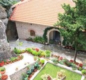 Meteora Monastery in Greece Stock Photo