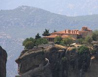 Meteora Monastery in Greece Royalty Free Stock Photo