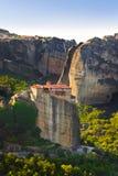 Meteora monastery in Greece royalty free stock image