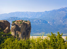 Meteora monastery in Greece Stock Photo