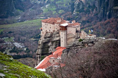 Meteora monastery, Greece Royalty Free Stock Photos