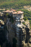 Meteora monastery, Greece. Famous destination place of tourists stock photos