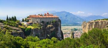 Meteora monastery in Greece Stock Image