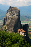 Meteora Monastery, Greece landmark. Founded in the 16th century, the easily-accessible Rousannou Monastery occupies a lower rock than the others of the Meteora Stock Photo
