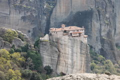 Meteora monastery in Greece, miracle Royalty Free Stock Images