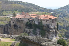 Meteora monastery in Greece, miracle Royalty Free Stock Photography