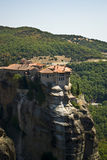 Meteora monastery in Greece. Religious place, Meteora monastery in Greece stock photography