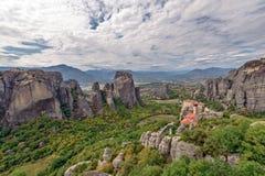 Meteora monastery in Greece Stock Photos