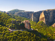 Meteora monastery in Greece Royalty Free Stock Photos
