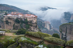 Meteora monastery Royalty Free Stock Images