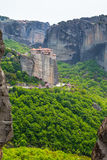 Meteora monastery on the high cliff, Greece Royalty Free Stock Images