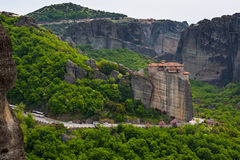 Meteora monastery on the high cliff, Greece Stock Photography