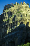 Meteora monastery no.1. Monastery on a high rock at Meteora Stock Photo