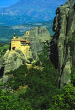 Meteora monastery no.3. Monastery on a high rock at Meteora Royalty Free Stock Photo