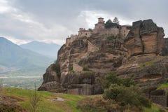Meteora monastery. One of the famous Meteora Monasteries, Greece stock image