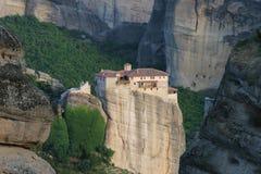 Monastery in rocks of Meteora, Greece Royalty Free Stock Photo