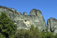 Meteora Monastery, sky and mountains. Stock Images