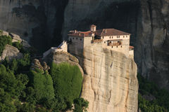 Meteora monastery on rock, Greece Stock Image