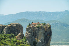 Meteora. Monastery which is build on top of a mountain located in greece Royalty Free Stock Photo