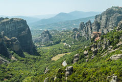 Meteora. Monastery which is build on top of a mountain located in greece Royalty Free Stock Photography