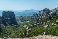 Meteora. Monastery which is build on top of a mountain located in greece Stock Image