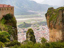 Meteora mountain in Greece Stock Photography