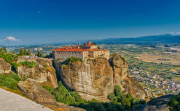 Meteora Mountain Monastery Complex Royalty Free Stock Photos