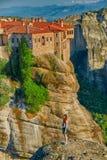 Meteora Mountain Monastery Complex Stock Photo