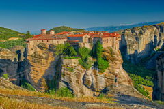 Meteora Mountain Monastery Complex Stock Images