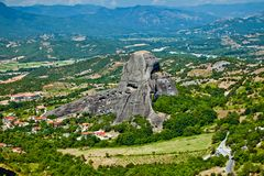 The Meteora mountains Royalty Free Stock Photography