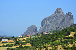 Meteora mountains Royalty Free Stock Photo