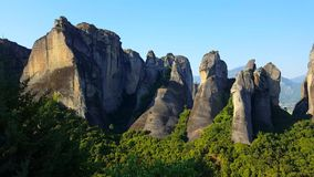 Meteora mountains stock video