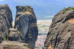 Meteora mountains in Greece Royalty Free Stock Image
