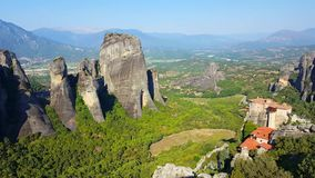Meteora mountains stock footage