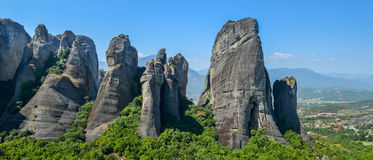 Meteora. One of the largest and most important complexes of Greek Orthodox monasteries in Greece Stock Images