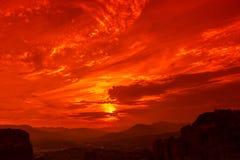 Meteora overlook Stock Photo