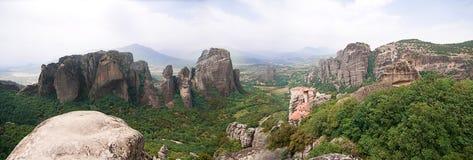 Meteora panorama Stock Photos