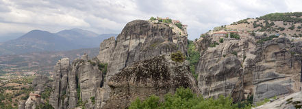 Meteora panorama Stock Photo