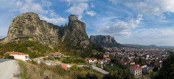 Meteora Panorama royalty free stock image