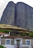 Meteora peaks at Kalambaka in Greece Stock Photography