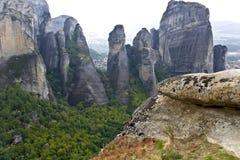 Meteora peaks at Kalambaka, Greece Stock Photography