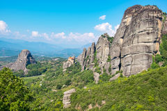 Meteora. Plain of Thessaly, Greece Royalty Free Stock Photography