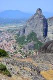 Meteora rock Stock Photo