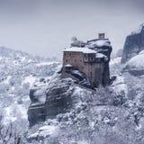 Fine Art,  winter scene in Meteora Eastern Orthodox monasteries, Greece.