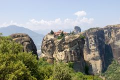 Meteora monasteries Royalty Free Stock Images