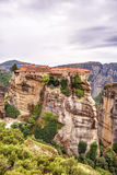 Meteora rock formations and monasteries Stock Photos