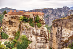 Meteora rock formations and monasteries Royalty Free Stock Images