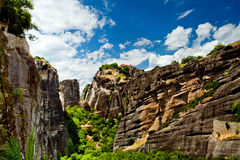 Meteora Rock Formations Royalty Free Stock Photo