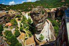 Meteora Rock Formations Royalty Free Stock Photos