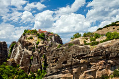 Meteora Rock Formations Royalty Free Stock Photography